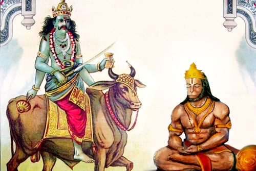 Shani Dev and Hanuman: