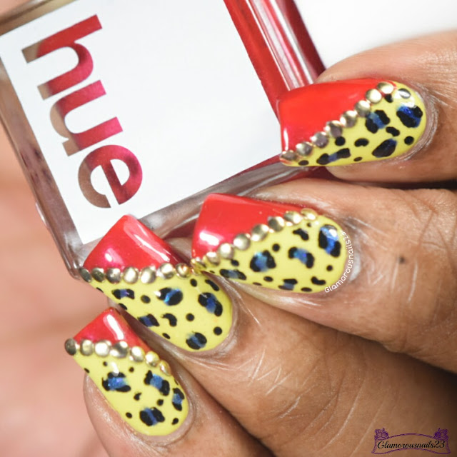 Yellow, Red & Blue Leopard Print