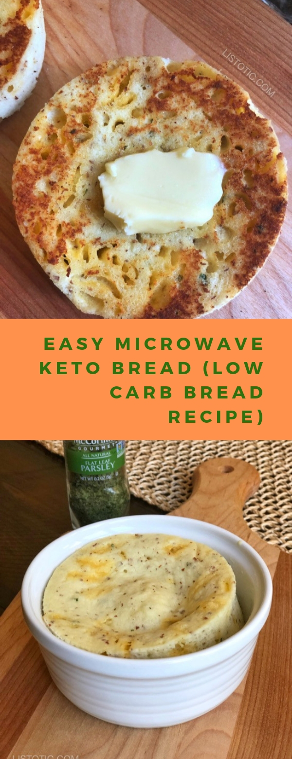 EASY MICROWAVE KETO BREAD (LOW CARB BREAD RECIPE) #lowcarb #ketorecipes
