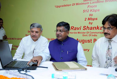 Ravi Shankar Prasad, BSNL, Bharat Sanchar Nigam Limited, Minister of Communications and Information Technology, BSNL Landline Broadband