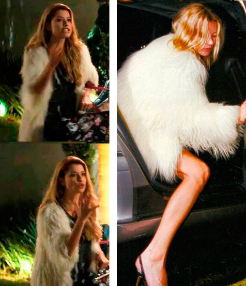 Diana (Aline Moraes) Casaco  e Kate Moss