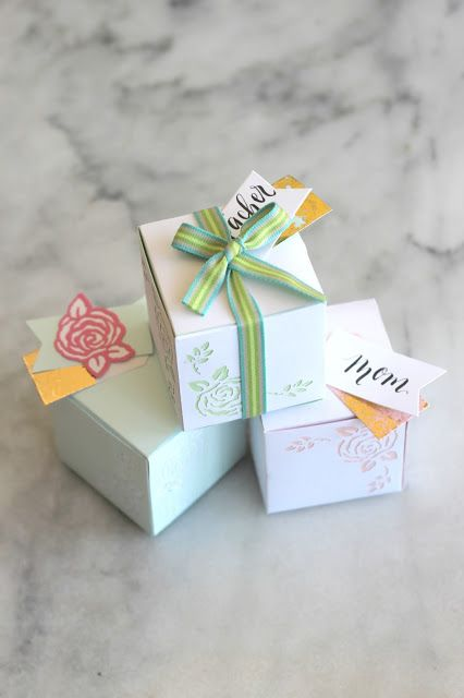 paper diecut gift boxes