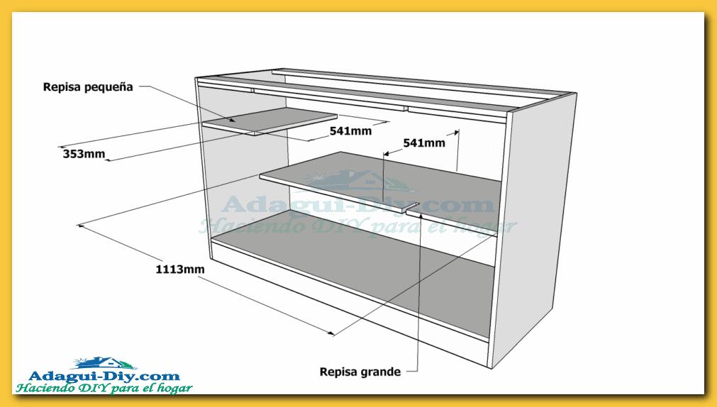 Como hacer muebles de cocina web del bricolaje dise o diy for Muebles de madera reciclada para cocina