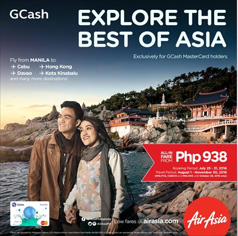 Book discounted AirAsia fare using your GCash MasterCard