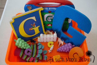 How to Make a Letter G Sensory Bin