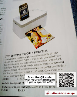 QR Codes in print magazines with special offers
