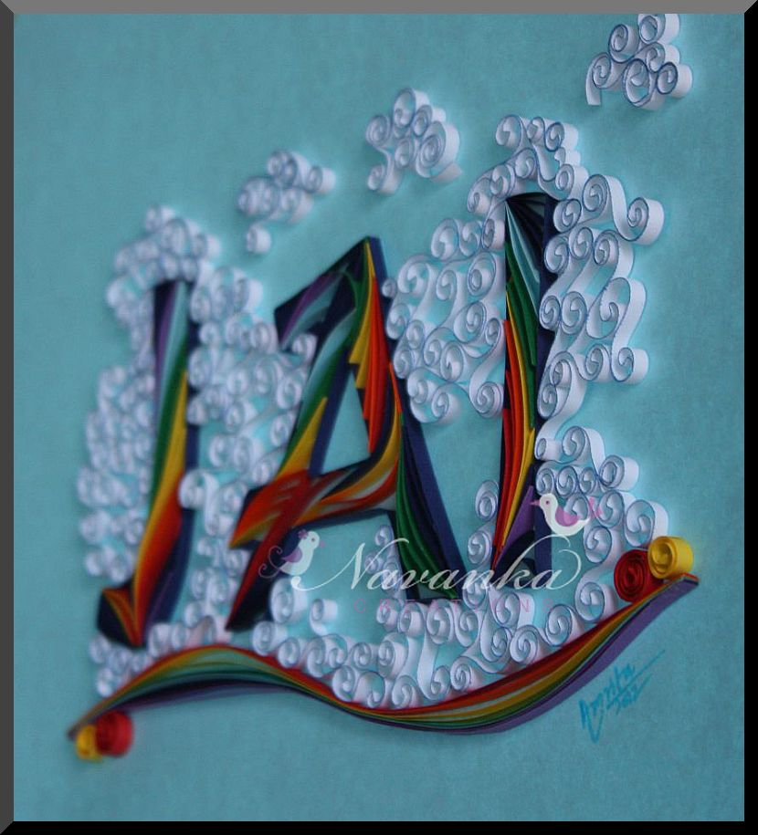 Craft Ideas for all: Rainbow in Clouds - Personalized ...