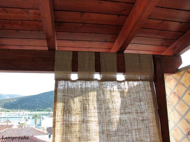 Εύκολες κουρτίνες για το μπαλκόνι ή την βεράντα σου από λινάτσα.