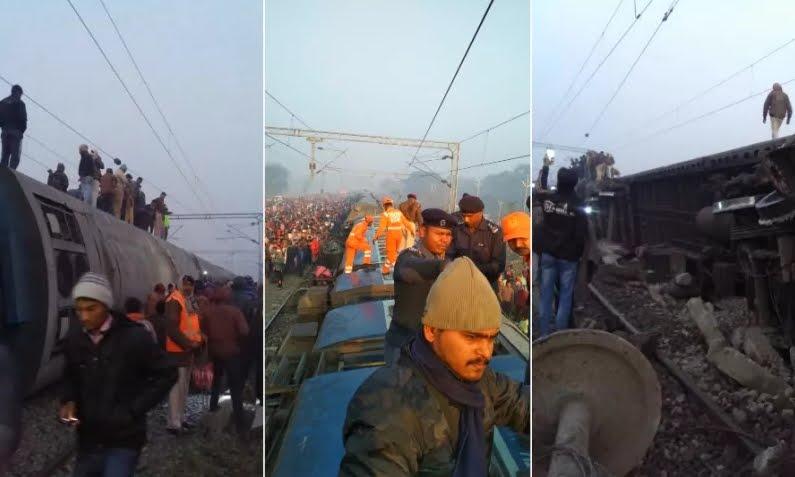 Treno deragliato in India, morti e feriti.