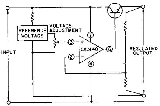 Basic single-supply voltage regulator Circuit Diagram