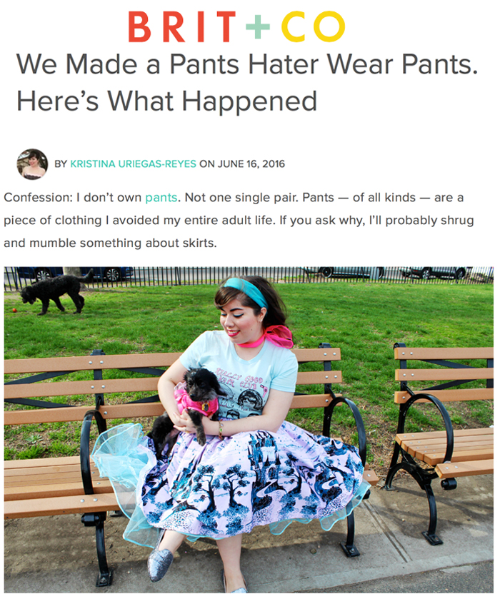 Brit and Co: We Made a Pants Hater Wear Pants