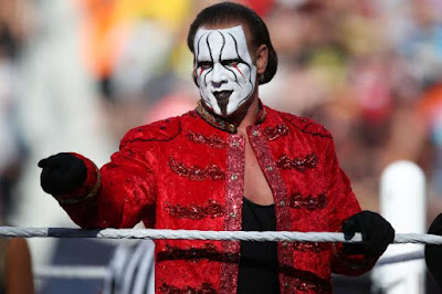 Sting at WrestleMania 31