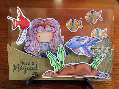 CC Designs Mermaid Emma on a Rock