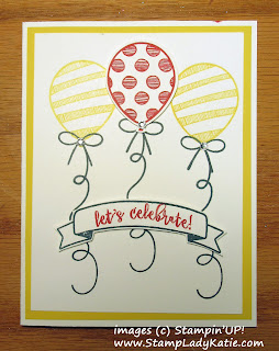 Celebrate Card made with Stampin'UP!'s Balloon Adventures Stamp Set