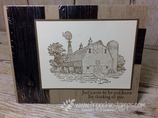 Heartland, Masculine Card, Pinewood Planks embossing folder, Copper Tarnish, Stampin'Up!,