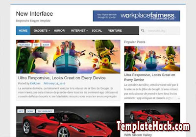 new interface blogger template