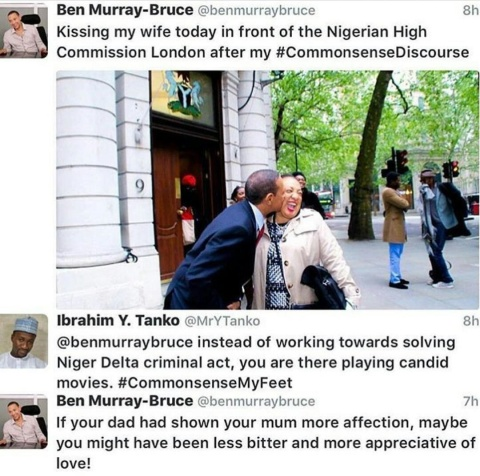 Lol...Ben Murray-Bruce drags the heck out of a twitter user