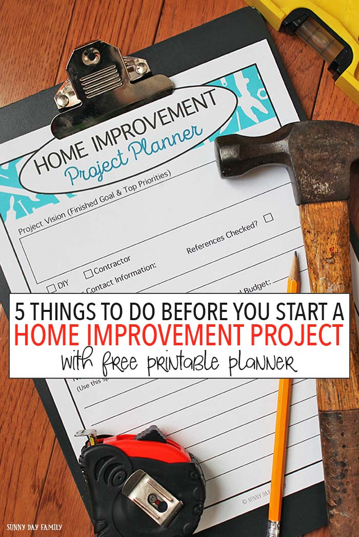 Whether you are doing a quick DIY project or a major remodel, you need to do these things before you start! And this printable home improvement project planner makes it easy. Get it now and start making your dream projects come to life!