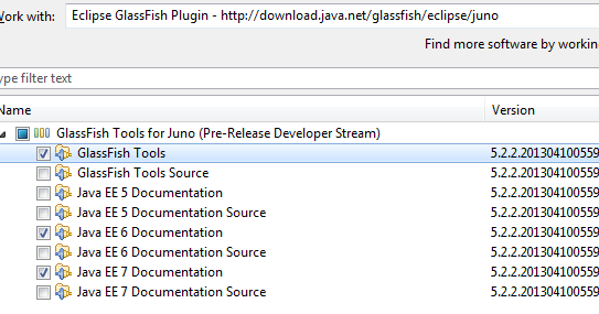 glassfish plugin for eclipse indigo