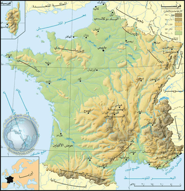 خريطة فرنسا France Map