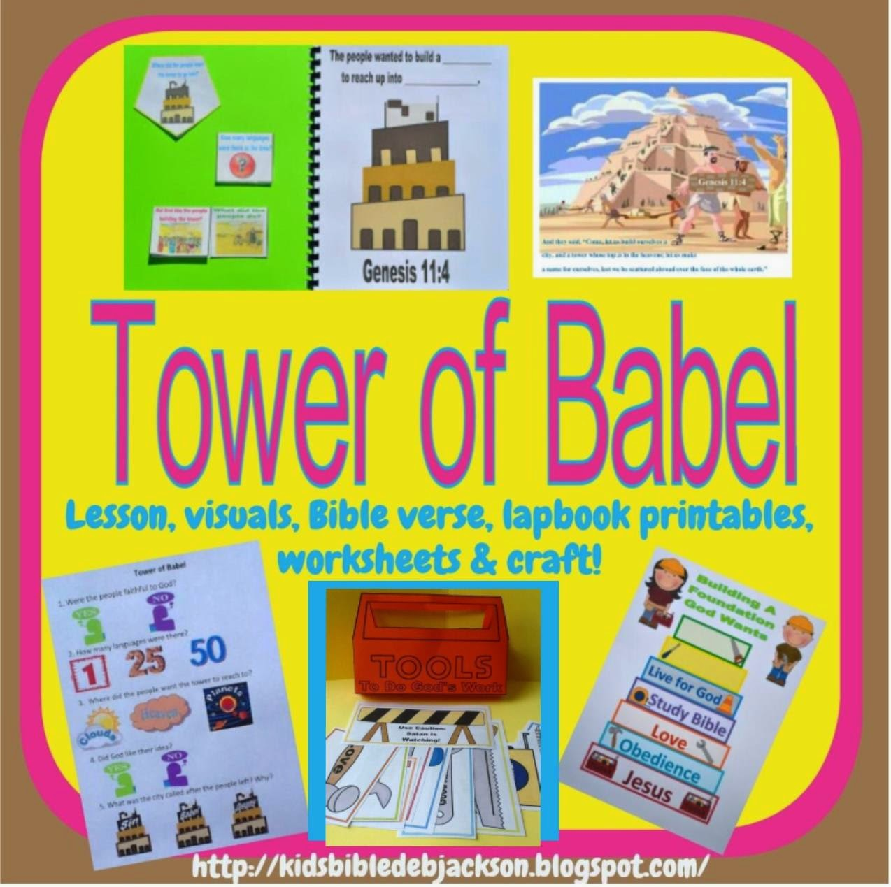 Bible Fun For Kids Genesis Tower Of Babel