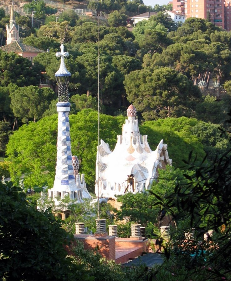 Parque Güell de Gaudí en Barcelona
