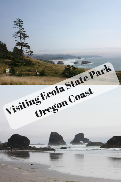 Visiting Ecola State Park along the Oregon Coast and taking in the breathtaking scenery.