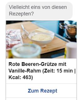 Dessert-Tipp vom Chatbot.