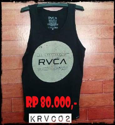 Kaos Singlet Distro Surfing Skate RVCA Premium Kode KRVC02