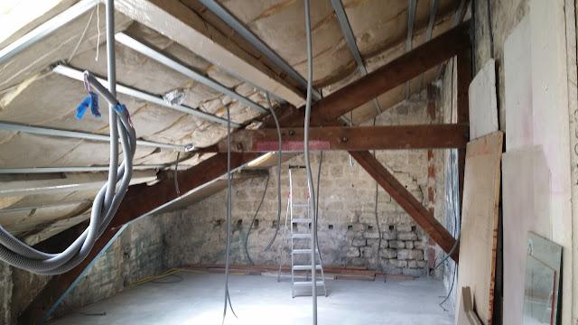 la renaissance de l 39 atelier isolation de la sous pente deuxi me couche. Black Bedroom Furniture Sets. Home Design Ideas