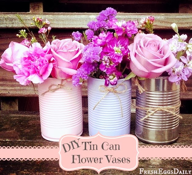 tin can flower vases