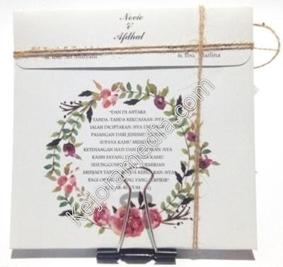 undangan vintage flower
