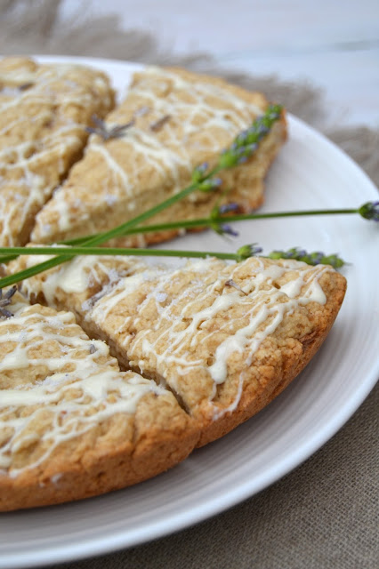 lavender apple white chocolate scones