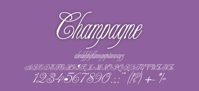 Kumpulan Font Undangan - Champagne Font
