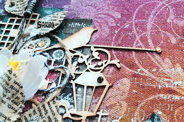 @marinasyskova #scrapbooking #scrap #sketchbook #primamarketing #mixedmedia #tutorial