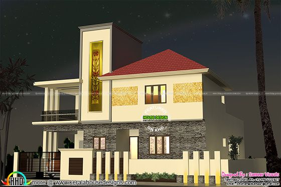 2500 sq-ft South Indian home plan