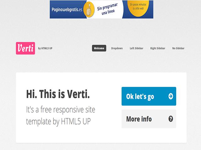 Verti HTML5 up