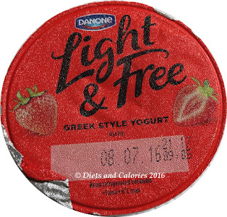 Danone Light & Free Strawberry Greek Style Yogurt
