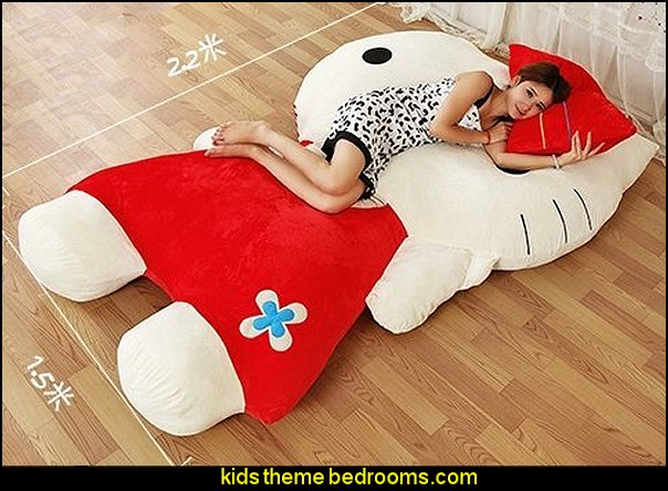 Hello Kitty Sleeping Bag cat red Bed