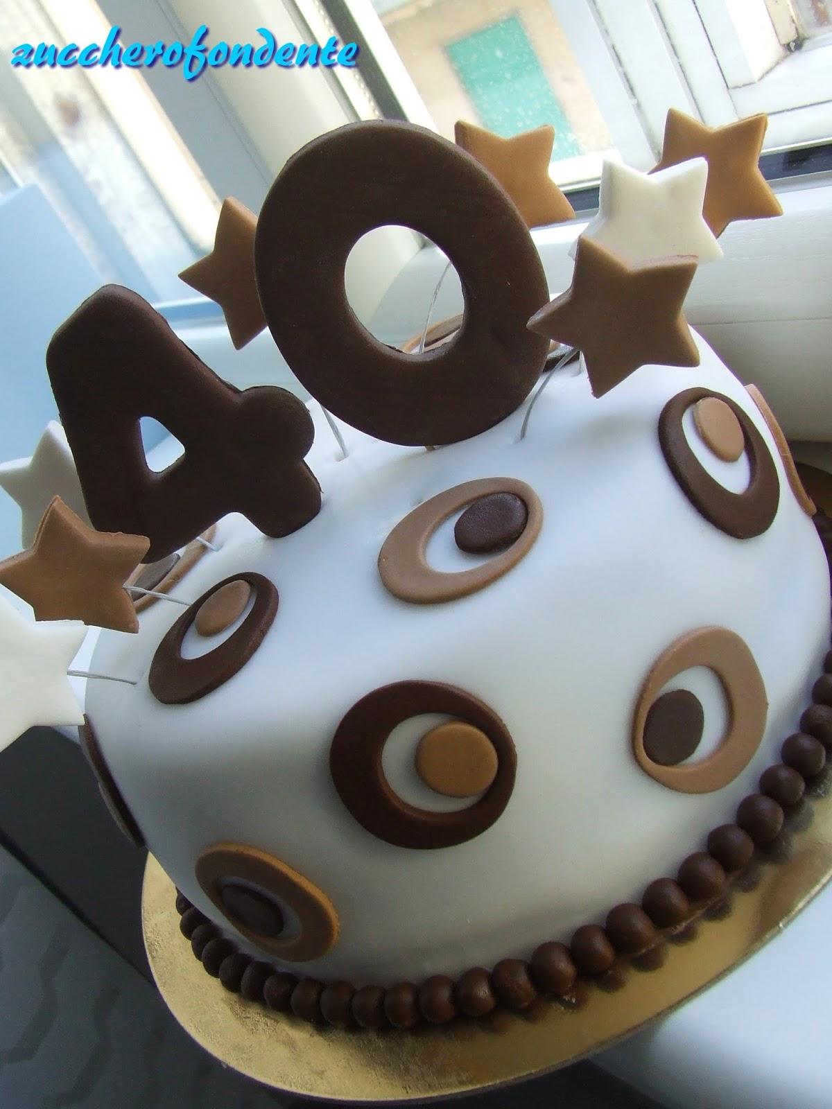 Favoloso Torta 40 anniun po' speciale (intolleranza al lattosio) EZ45