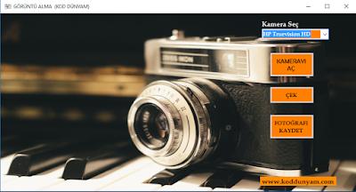 Görüntü Çekme ve Kaydetme Projesi