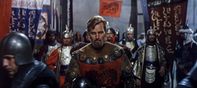 Charlton Heston en la película El Cid (1961, Anthony Mann)
