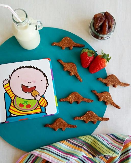 Dino cookies en 2 estilos