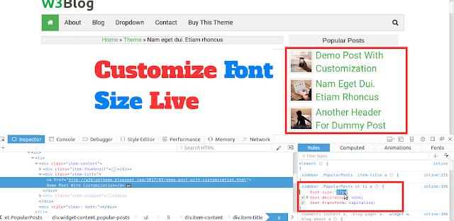 Edit CSS Live Blogger