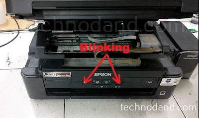Perbaikan Printer Epson L220 Error Blinking Paper Jam