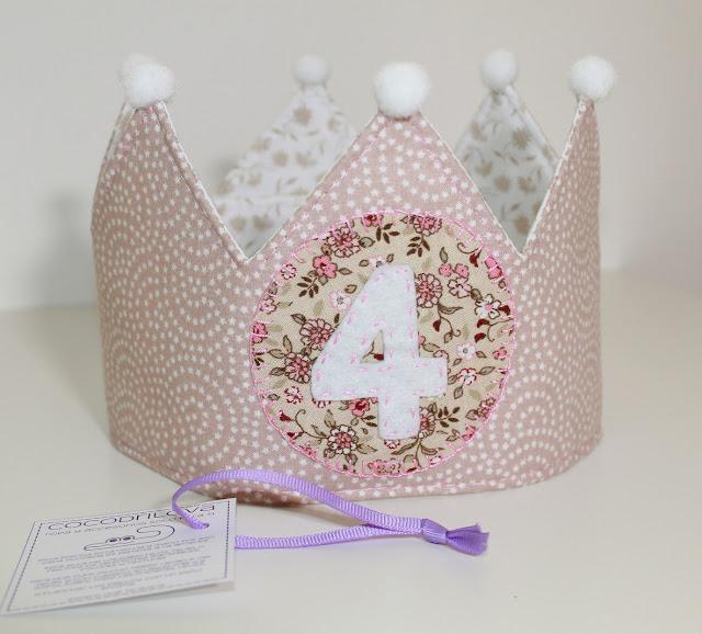 corona de cumpleaños 4 años