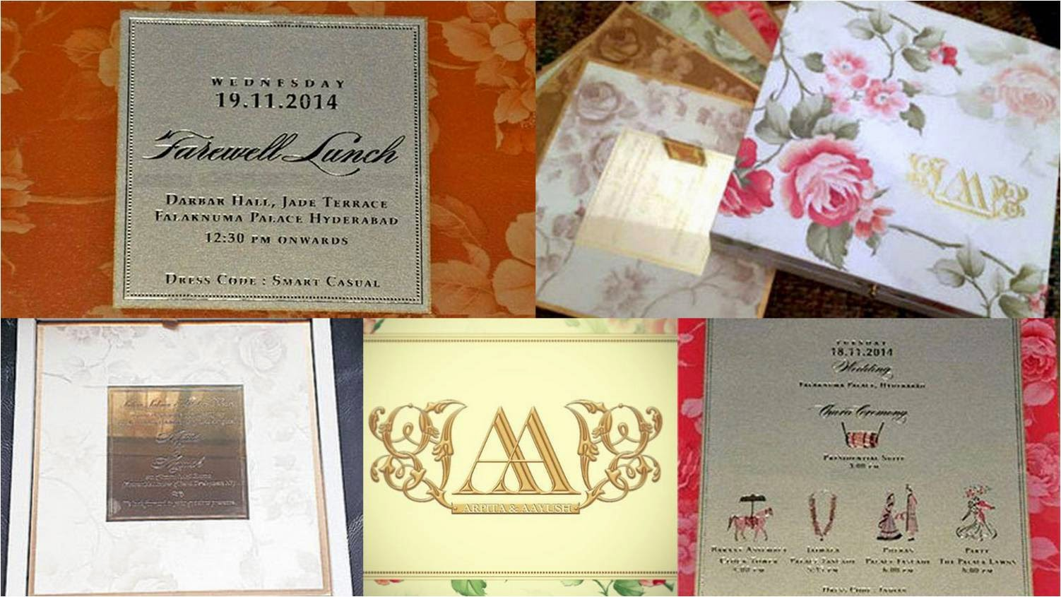 Wedding cards of Arpita and Aayush's marriage