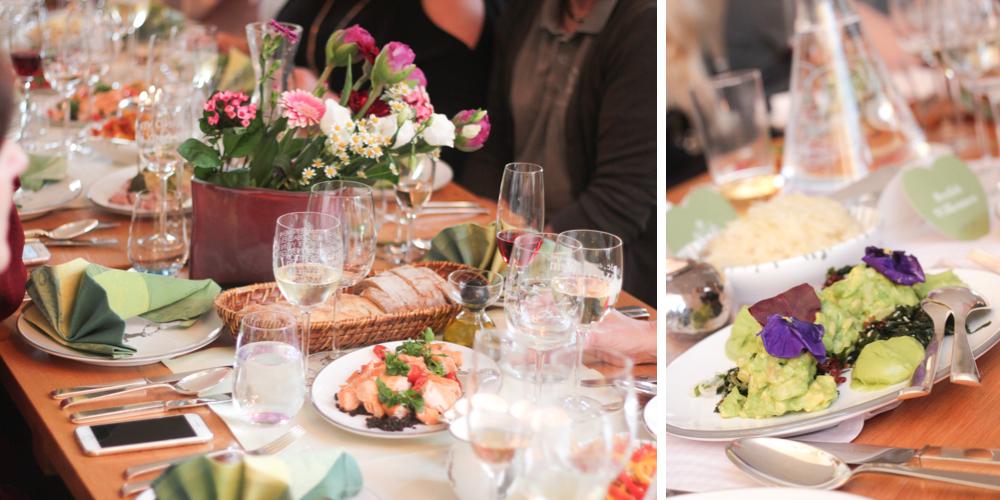 Lösch für Freunde Dinner lange Tafel