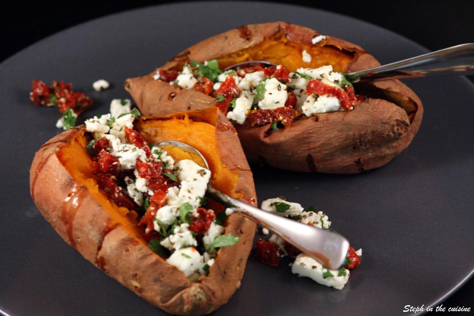 steph in the cuisine patates douces feta tomates s ch es. Black Bedroom Furniture Sets. Home Design Ideas