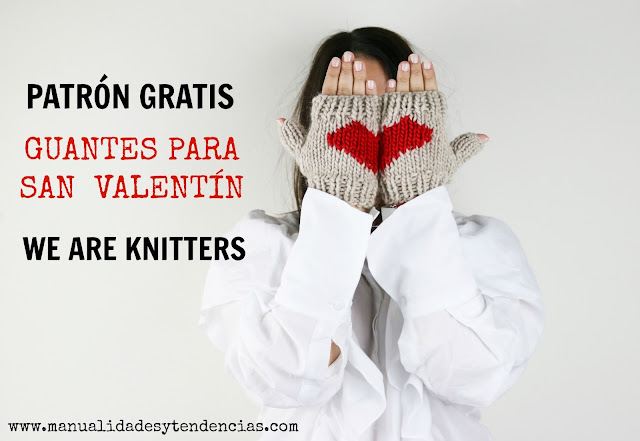 Patrón gratis de guantes para San Valentín